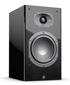 Aperion Audio Intimus 5B Bookshelf Speaker Review Angled