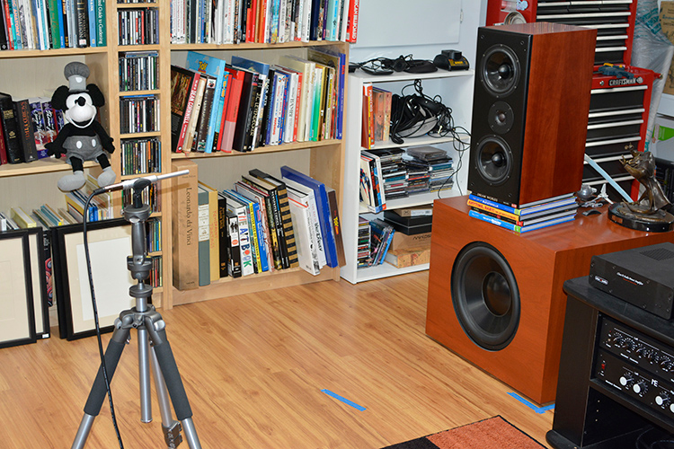Legacy Wavelet Left speaker measurement