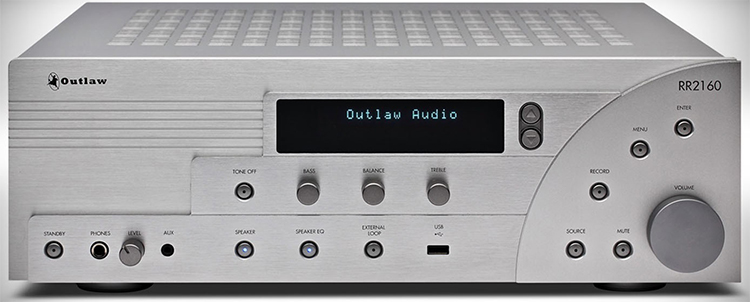 Outlaw Audio RR2160 Stereo Retro Receiver Front View