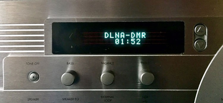 Outlaw Audio RR2160 Stereo Retro Receiver DLNA Display