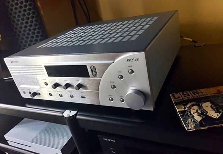 Outlaw Audio RR2160 Stereo Retro Receiver Front Angle View