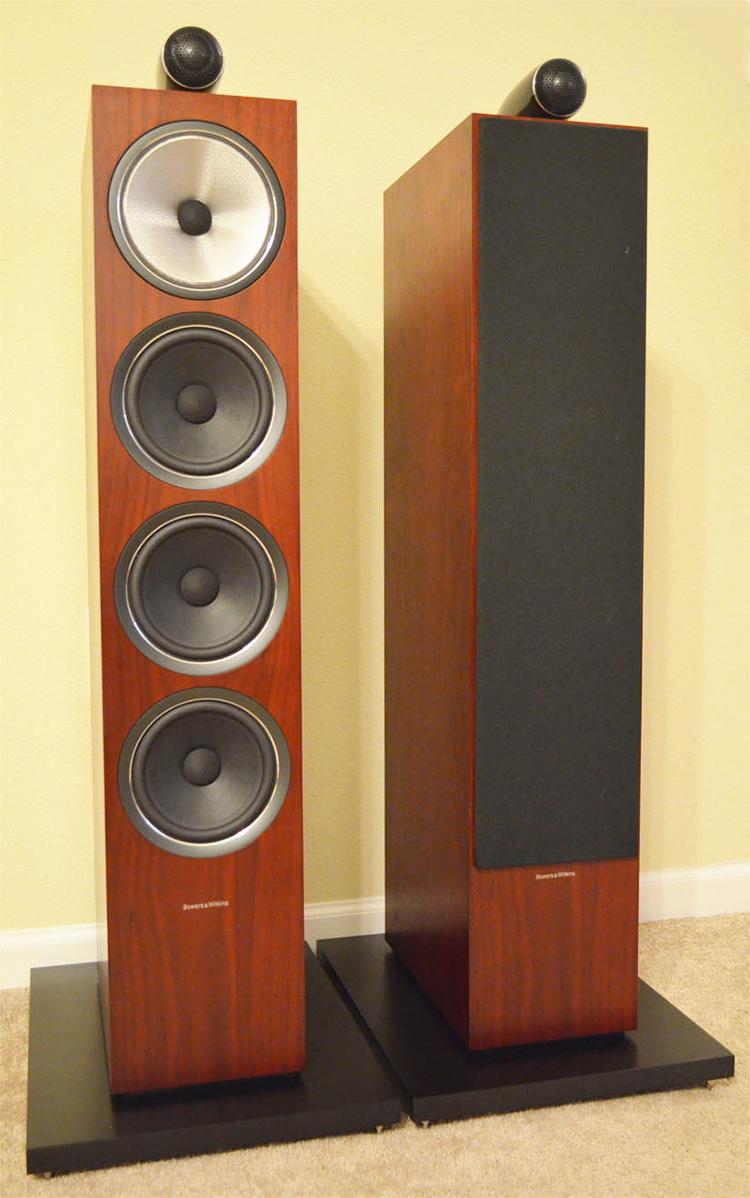 B&W 702 S2 speakers