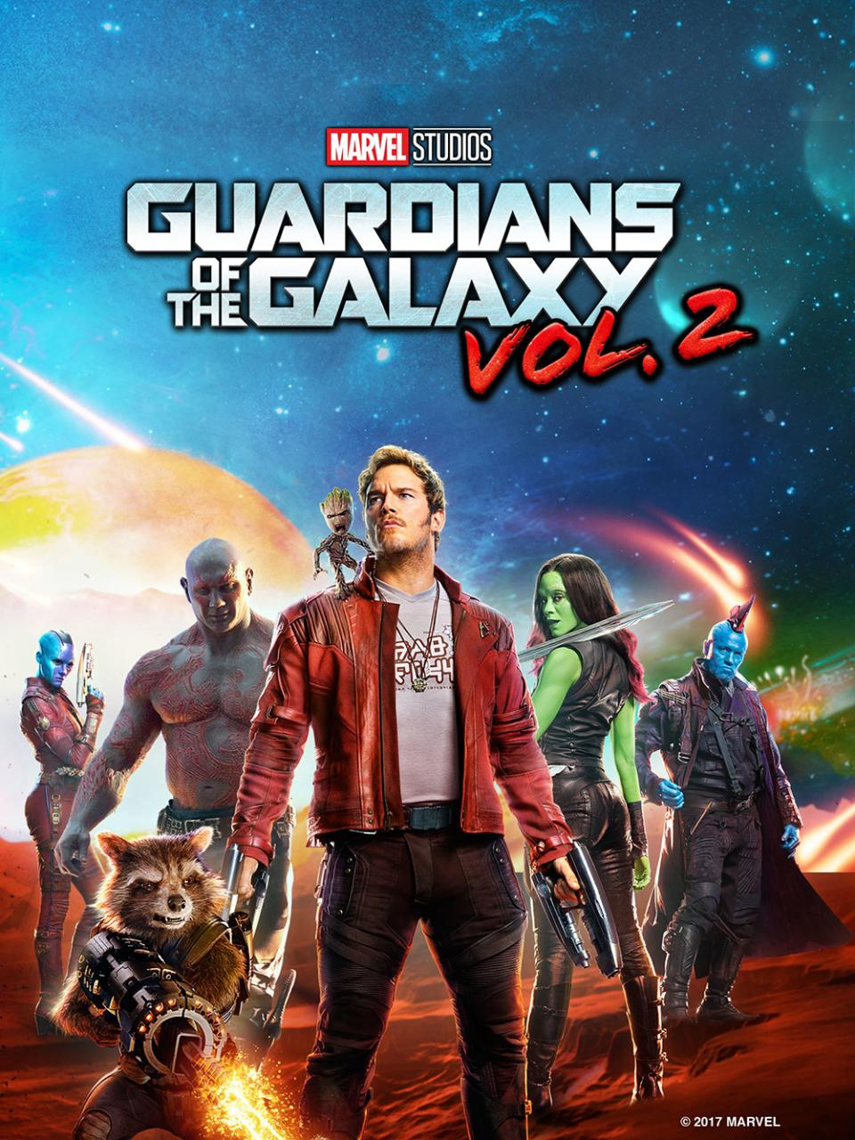 Guardians of the Galaxy Vol. 2 (2017) movie cover