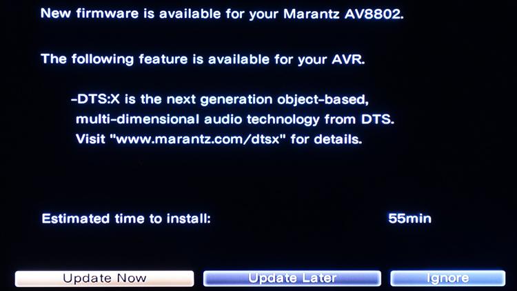 Marantz AV8802 DTS:X Firmware Announcement