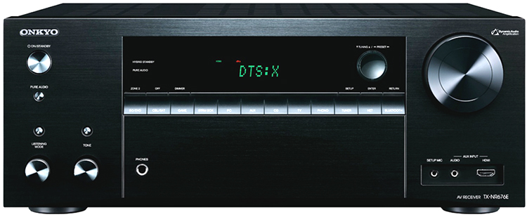 Onkyo TX-NR676 7.2-Channel Network A/V Receiver - Front View