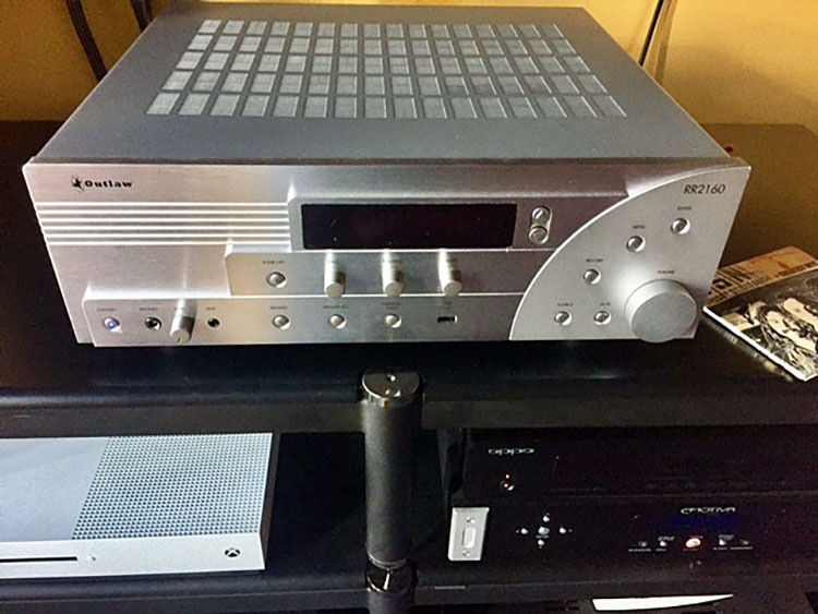 Outlaw Audio RR2160 Stereo Retro Receiver Front Top View